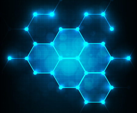 Modern geometrical abstract digital - Vector Background.