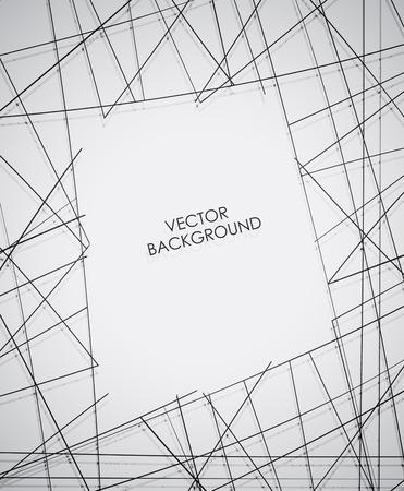 Abstracte lijn achtergrond Vector. Stock Illustratie