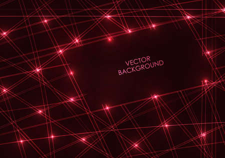 red line: Red line digital with space for Text - Vector Background.