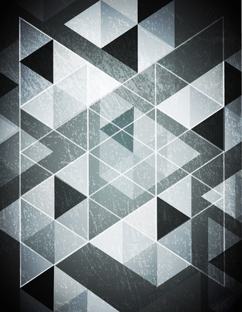 trendy tissue: Retro Abstract triangle pattern. Vector background. Geometric abstract texture