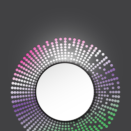 text box design: Circle text box design with colorful dots, vector illustration. Illustration