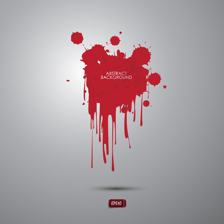 Abstract vector of blood Drip Paint, background banner.