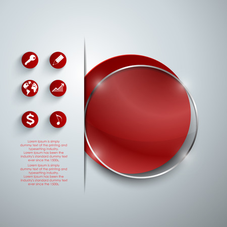 double page: Abstract vector red banners set.