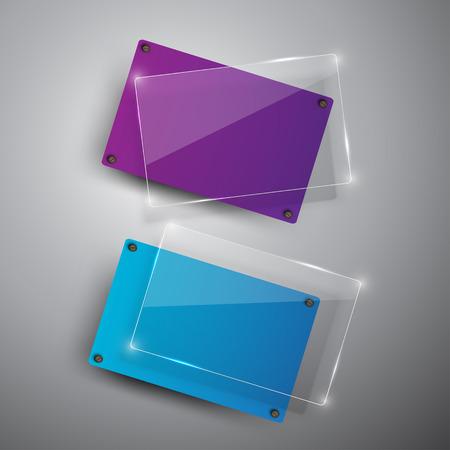 double page: Abstract vector banners set.