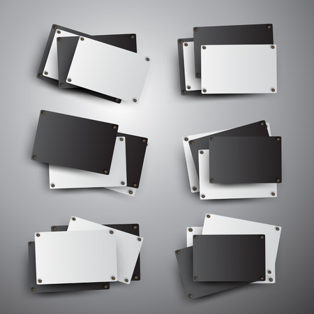 quadrat: Black and white rectangles on the grey background.