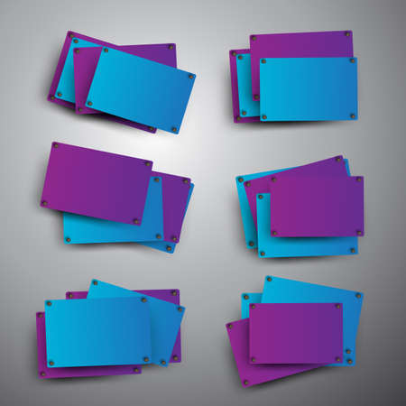 quadrat: Blue and purple rectangles on the grey background.