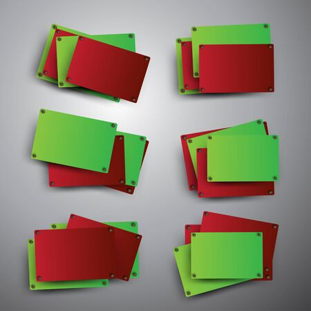 quadrat: Red and green rectangles on the grey background.