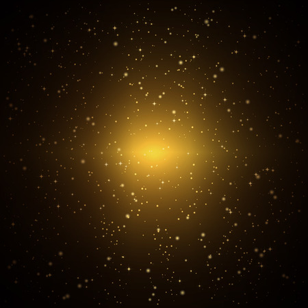 Abstract background with twinkling golden stars.