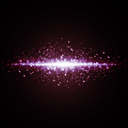 glow in the dark: Abstract bokeh digital background. Vector illustration. Illustration