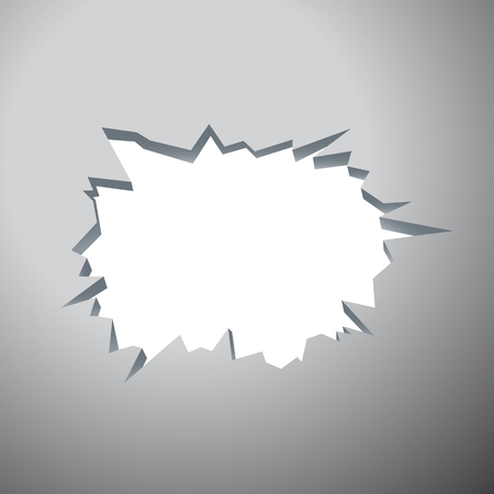 Hole with cracks - Template for a content.