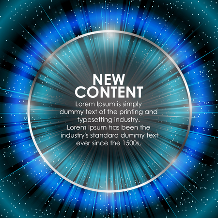 vibrant colors: Abstract digital background design with a burst, lens flare with Shiny glass circle. Vector illustration. Illustration