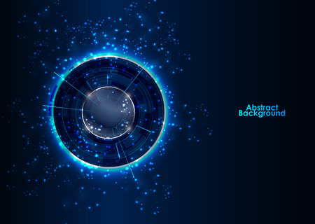 Abstract Modern technology circles vector background.