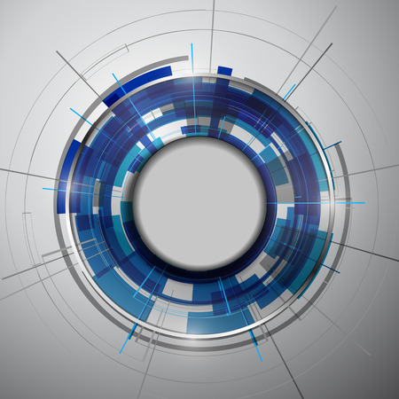 Abstract Modern technology circles vector background. Reklamní fotografie - 42345178