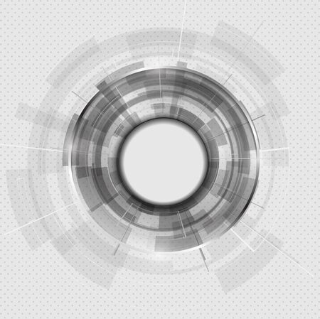 cool background: Abstract Modern technology circles vector background.