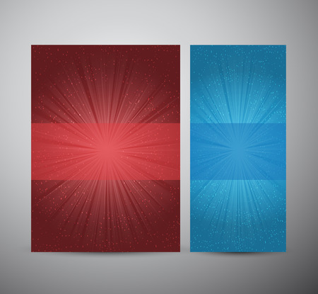 flare up: Brochure business design template or roll up. A color design with a burst. lens flare. Vector illustration.