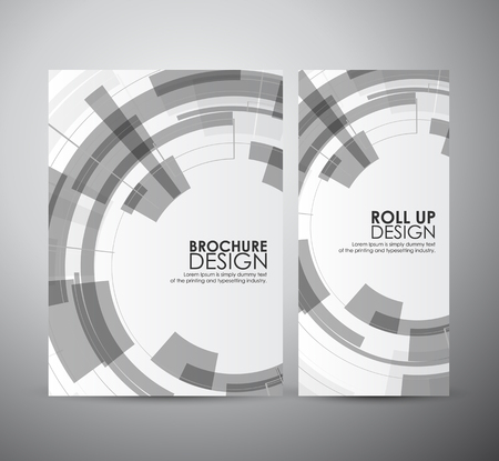 technology cover: Brochure business design abstract Modern technology circles template or roll up. Illustration