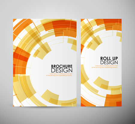 Brochure business design abstract Modern technology circles template or roll up. Illustration
