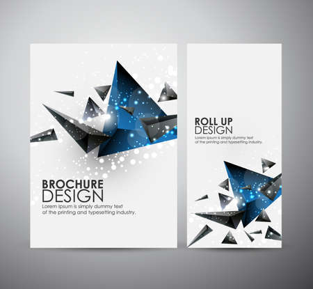cg: Abstract triangle brochure business design template or roll up. Vector illustration