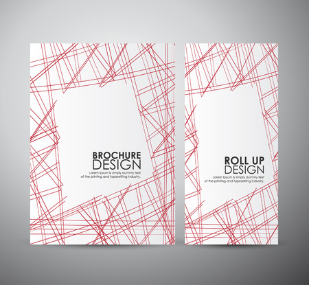 designs: Abstract line with space for Text, brochure business design template or roll up.