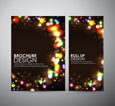 color effect: Abstract round frame design. Brochure business design template or roll up.