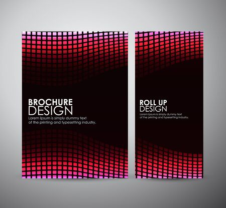company background: Abstract square. Brochure business design template or roll up. Illustration