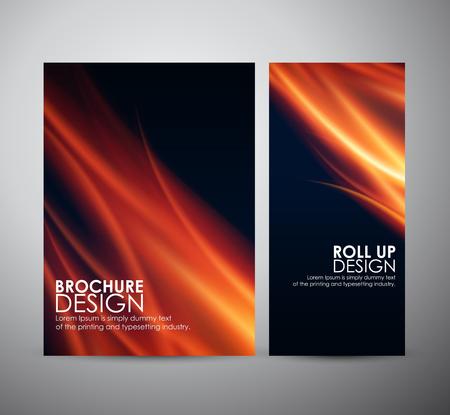fuoco e fiamme: Fuoco sfondo fiamme. Brochure aziendale modello di progettazione o di roll up.