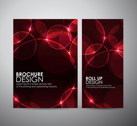 disco background: Abstract Circle bokeh. Brochure business design template or roll up. Illustration