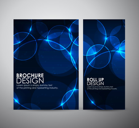Abstract Circle bokeh. Brochure business design template or roll up. Vectores