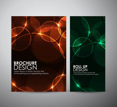 light pink: Abstract Circle bokeh. Brochure business design template or roll up. Illustration
