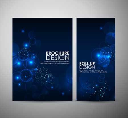 Abstract Circle bokeh. Brochure business design template or roll up. Illustration