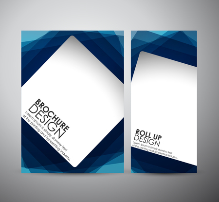 square abstract: Abstract square frame background brochure business design template or roll up. Vector illustration.