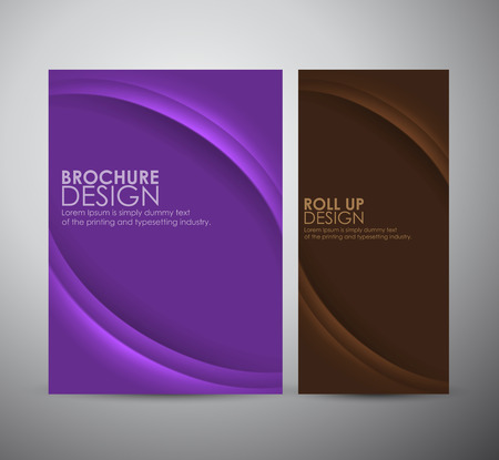 Abstract curve line vector brochure business design template or roll up. Ilustrace