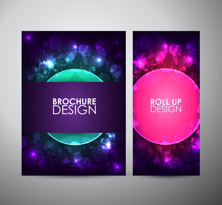 Abstract circles background brochure business design template or roll up.