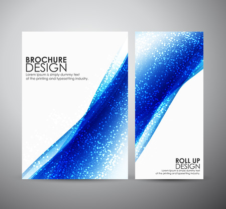 Abstract brochure business design template or roll up. Vector illustration Vettoriali