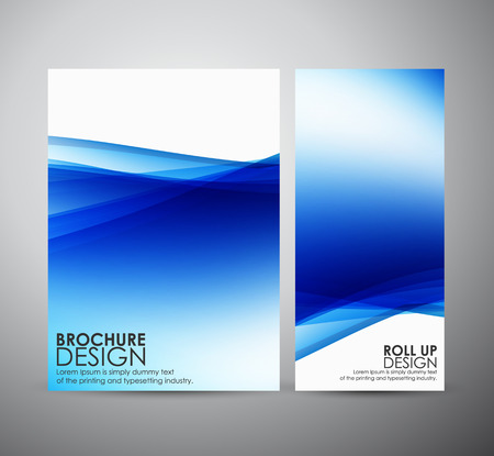 Abstract brochure business design template or roll up. Vector illustration Ilustrace