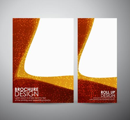 brochure template: Abstract brochure business design template or roll up. Vector illustration Illustration