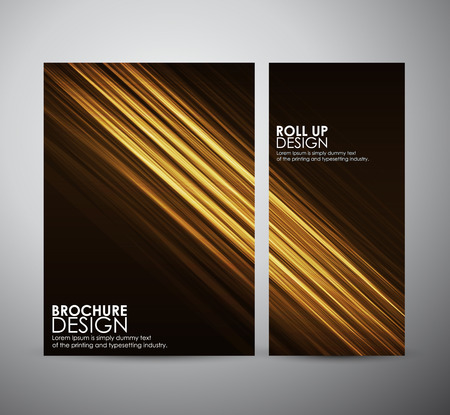 cool backgrounds: Abstract brochure business design template or roll up. Vector illustration Illustration