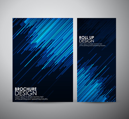 Abstract brochure business design template or roll up. Vector illustration Imagens - 42525283