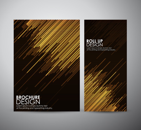Abstract brochure business design template or roll up. Vector illustration Imagens - 42525290