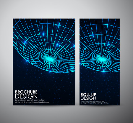 Abstract brochure business design template or roll up. Vector illustration Imagens - 42525297
