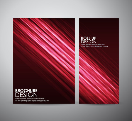Abstract brochure business design template or roll up. Vector illustration Vectores