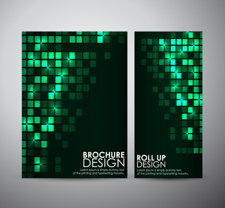 brochure cover: Abstract square frame background brochure business design template or roll up. Vector illustration Illustration