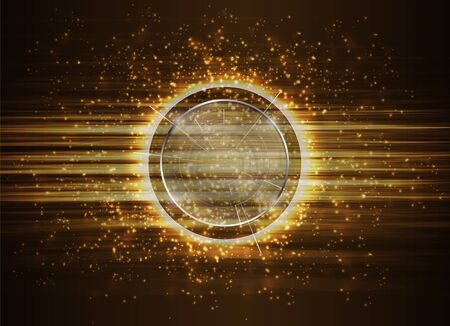 technology background: Abstract Modern technology circles Background.