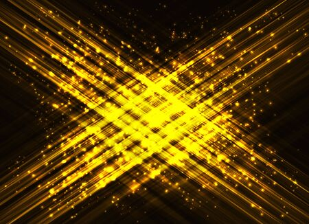 black light: Abstract background - bright gold lights.