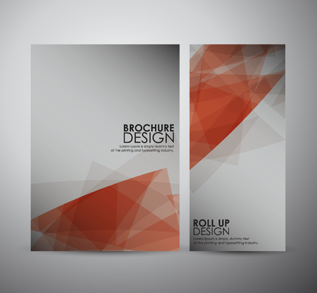 cover art: Abstract brochure business design template or roll up