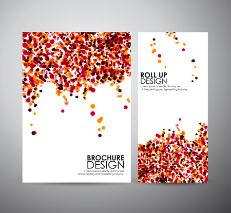 Brochure business design template or roll up. Vector Illustration. Illustration