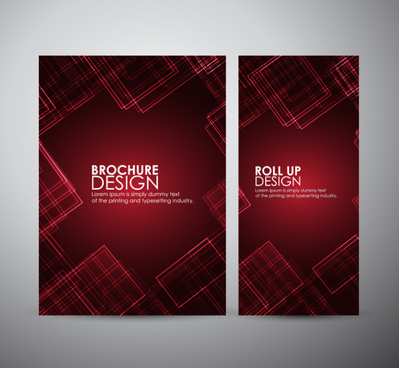 Abstract brochure business design template or roll up. Vector illustration.