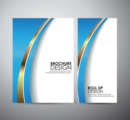 Abstract brochure business design template or roll up Imagens - 44592596