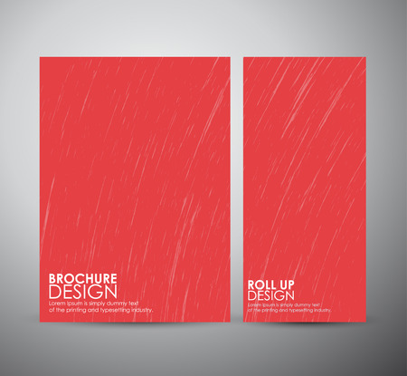 crack up: Abstract grunge. Brochure business design template or roll up