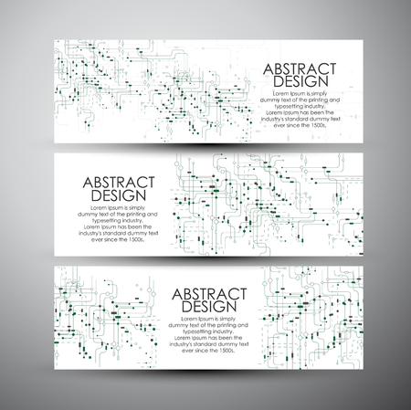 Bannières Vector set avec la technologie abstraite. Banque d'images - 45051726
